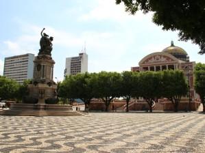 Largo São Sebastião, um dos pontos mais tradicionais do centro histórico de Manaus, receberá evento (Foto: Jamile Alves/reprodução)