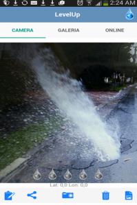 Aplicativo mostra vazamentos em vias públicas (Foto: Reprodução/LevelUp)