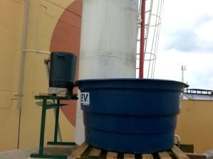 Equipamento filtra água da chuva para reuso em escola no interior de São Paulo (Foto: reprodução)