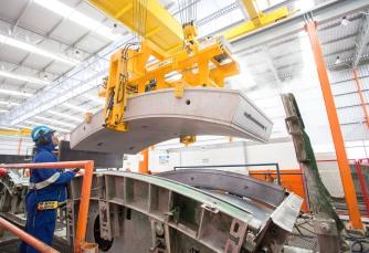 Governador de São Paulo durante visita a fábrica de aduelas utilizadas para construção da linha 6 do metrô, na região de Pirituba em São Paulo. 15/02/2016 - São Paulo - Foto: Eduardo Saraiva/A2IMG