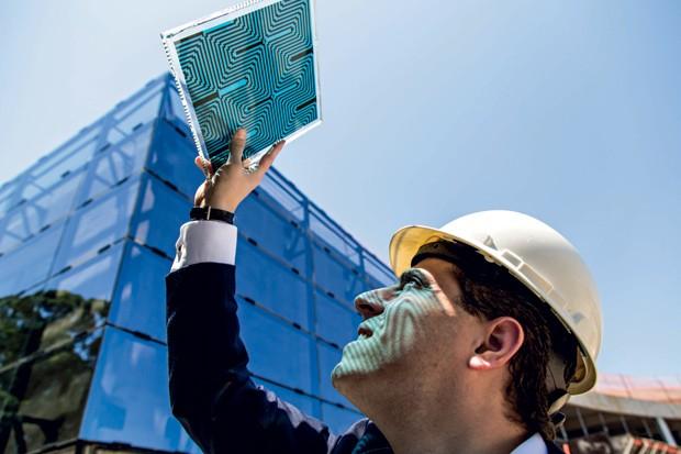 vidro energia solar