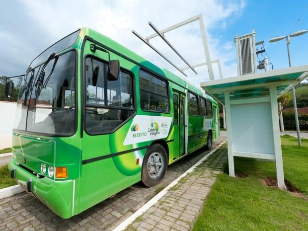 São Luiz do Paraitinga testa ônibus elétrico (Foto Divulgação-Elektro)